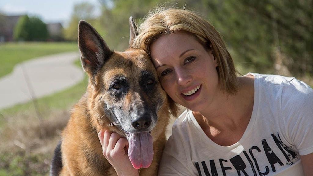 Anna Maria Moonen med hund