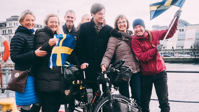Långfärdscyklisten Fredrika Ek är på hemmaplan igen.