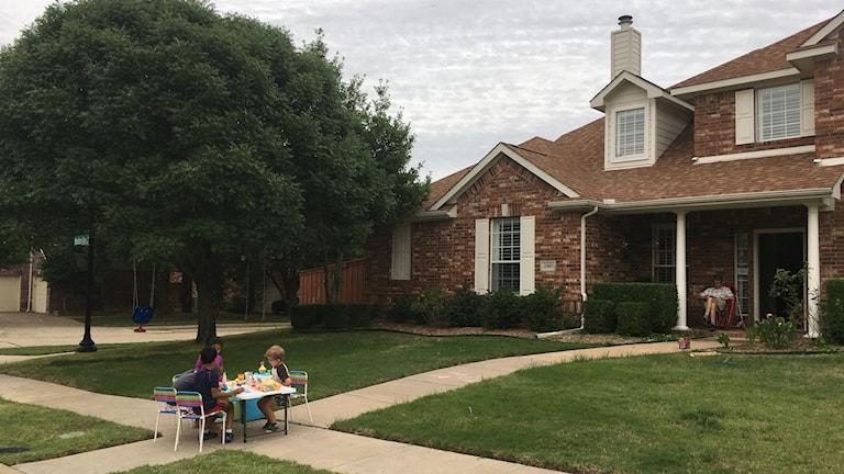 Familjen Moonens hus i Dallas, Texas.