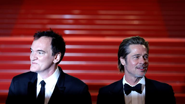 Quentin Tarantino och Brad Pitt