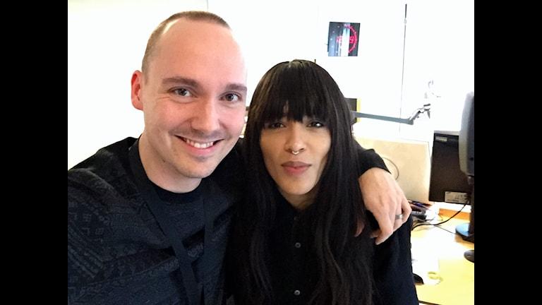 Fredrik Ralstrand tillsammans med Loreen