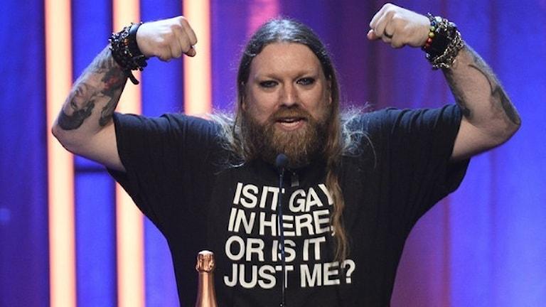 På QX gaygalan utsågs operasångaren Rickard Söderberg till årets Homo/bi/trans. Foto: Anders Wiklund/TT