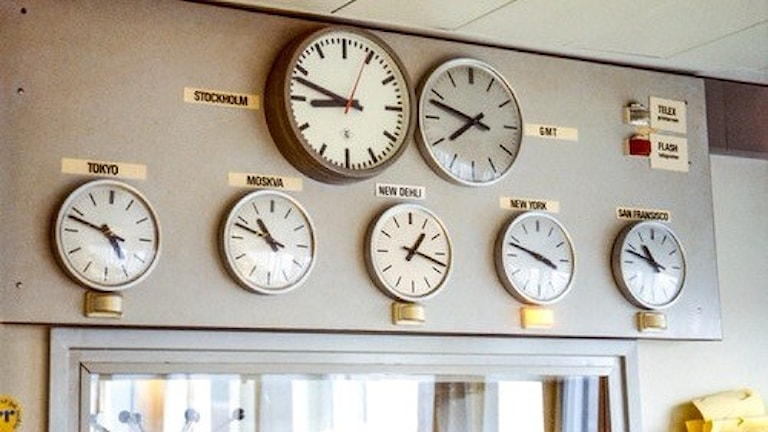 Klockor. Foto: SVT.