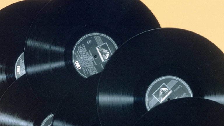 Vinylskivor. Foto: SVT Bild