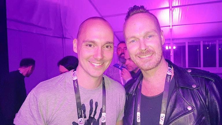 Fredrik Ralstrand och ESC-bloggaren Pierre Bengtsson