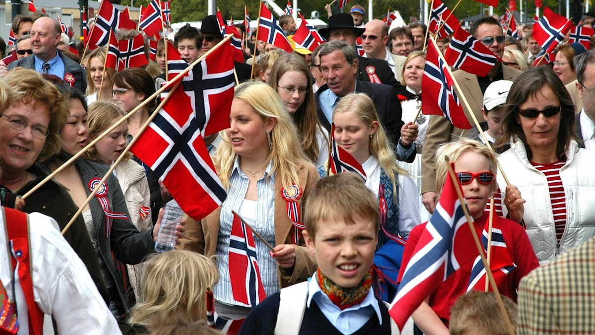 Norge firar. Foto: SVT.