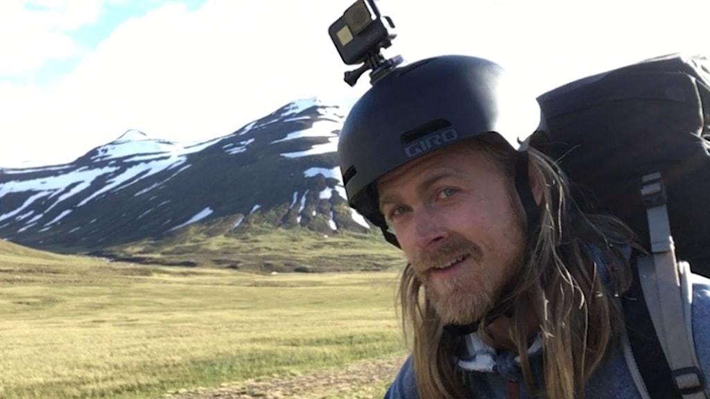 Äventyraren Erik Sander.