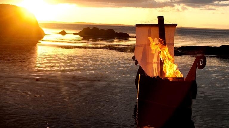 Vikingabegravning.