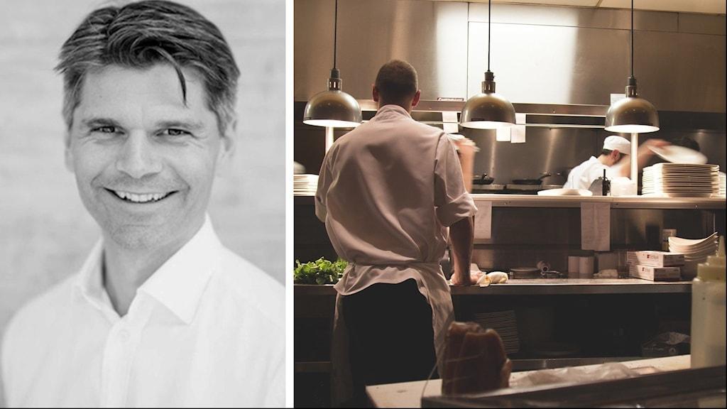 Andreas Stenberg, VD för Årets kock och miljöbild på kök.