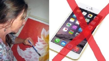 Nu väljer konstnären AnnKarina Vesterberg bort mobil och dator under ett år. Så sista instagrambilden är upplagd.
