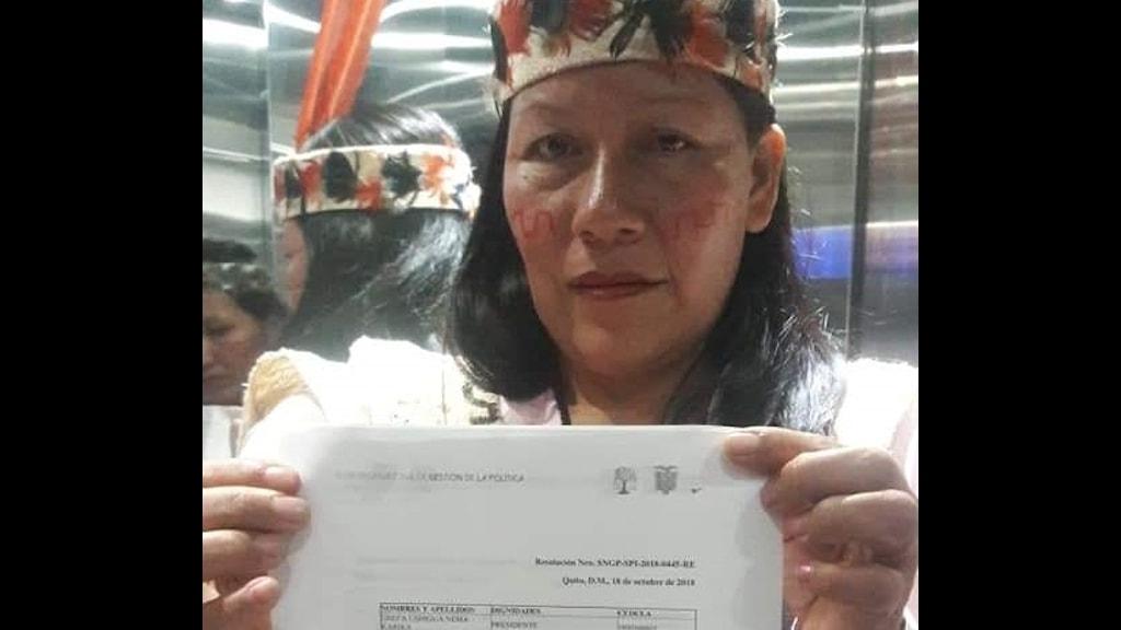 Manari Ushigua, ledare för Saparabefolkningen