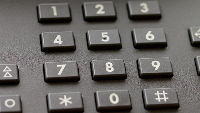 Nummer på en telefon.