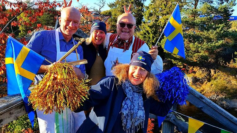 Det svenska guldgänget på plats i Skottland.