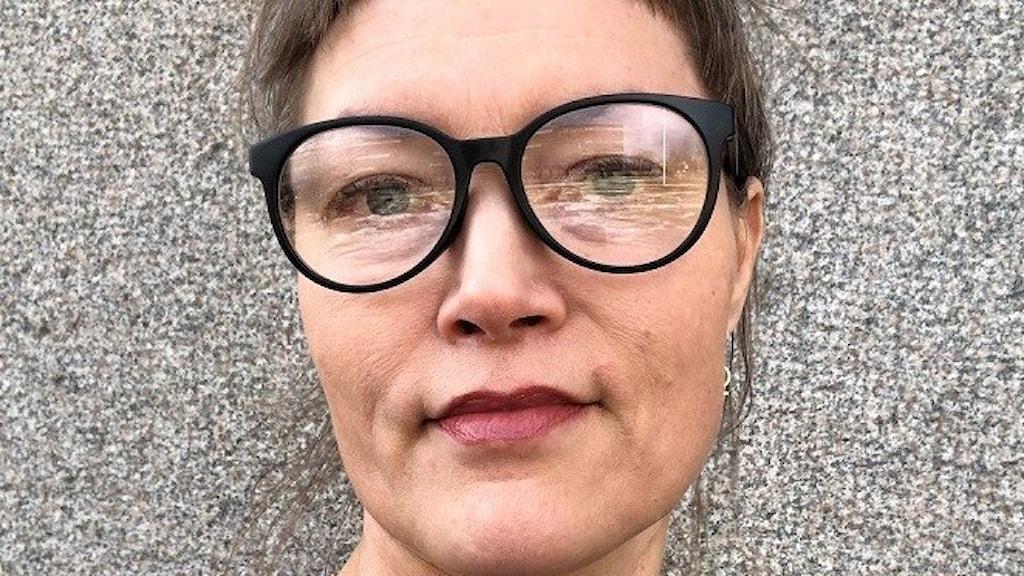 Ulrika Olsson ligger bakom initiativet att göra en gigantisk coronafilt.
