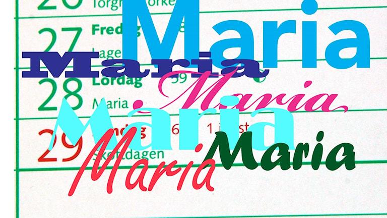 Hitta 10 Maria i ljudklippen