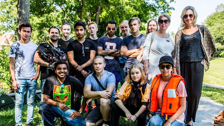 Sommarjobbarna i Österåkers kommun som producerat VR-filmer
