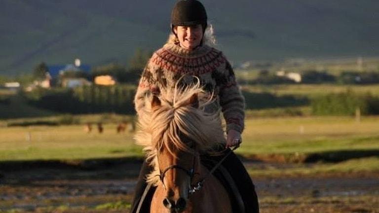 Anna Maria Hedman bor på Island