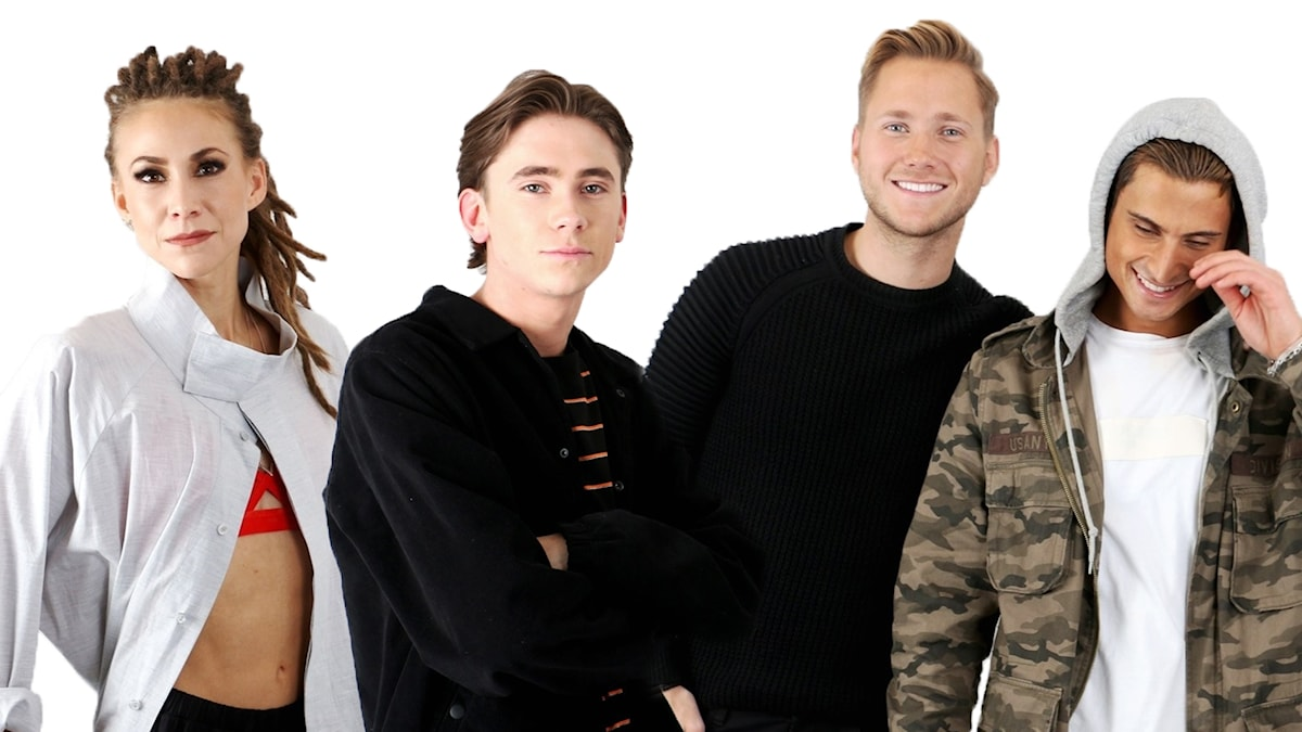 Felix Sandman, Mariette och Samir & Viktor som är aktuella i Melodifestivalen.