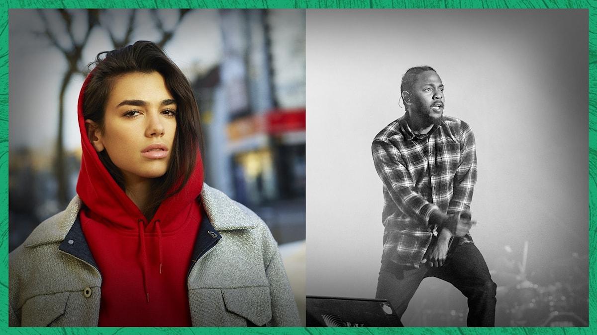 Dua Lipa och Kendrick Lamar