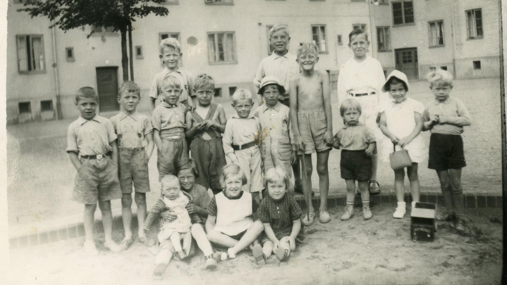 Barn på Östergård, Malmö 1939