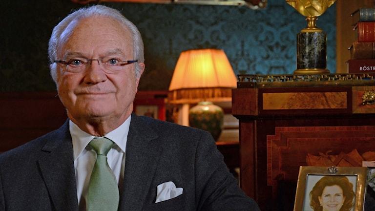Kung Carl XVI Gustaf 2018. Foto: Sven-Åke Visén/SVT Bild.