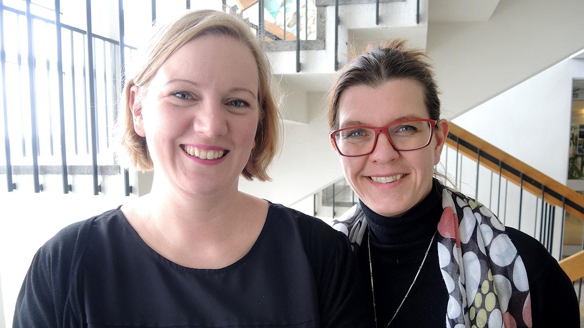 Helena Sahlén Folke och Elin Claeson. Foto: Anders Foghagen/Sveriges Radio.