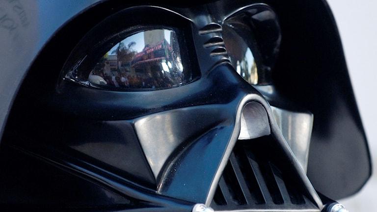 Darth Vaders svarta andningsmask från Stjärnornas krig.
