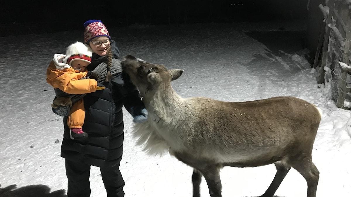 Maret Steinfjell och dottern Meerke