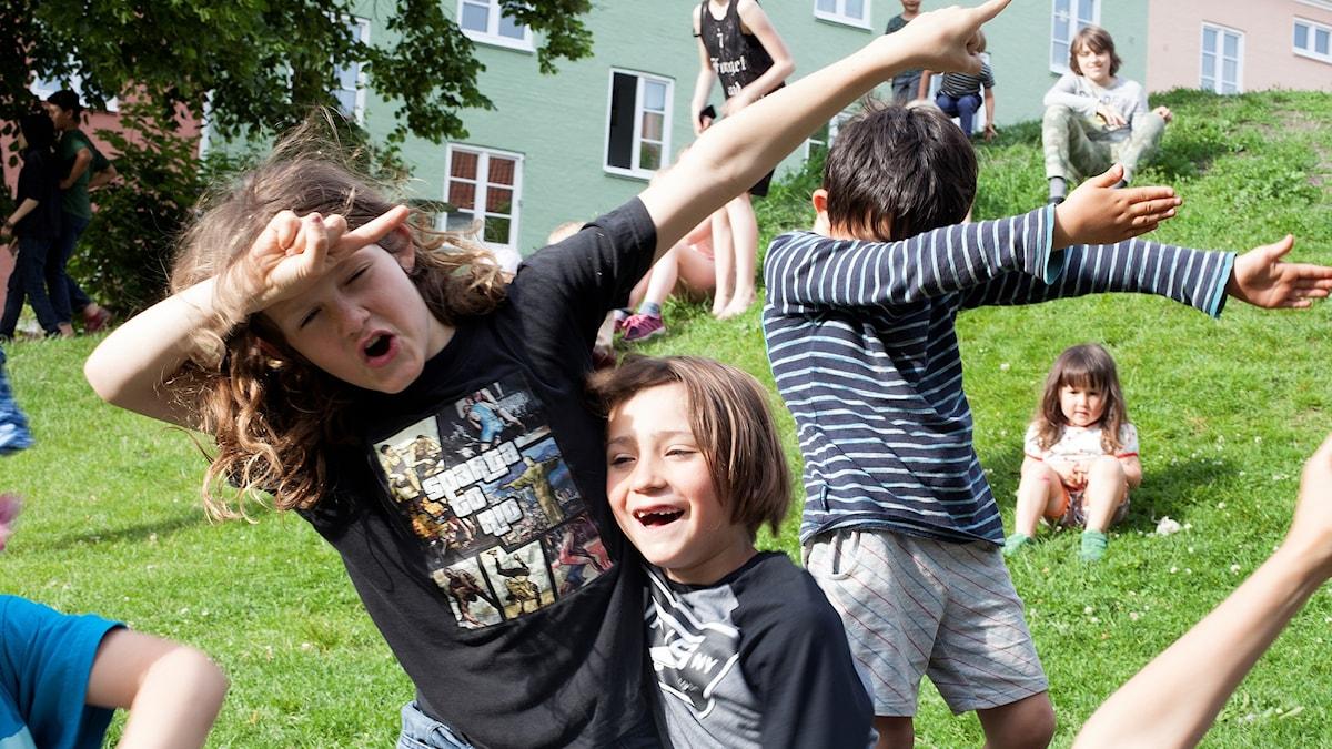 Barn på Östergård 2017.