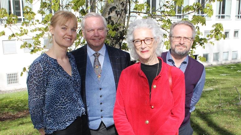 Emma Frans, Carl Jan Granqvist, Magdalena Ribbing och Karsten Thurfjell.