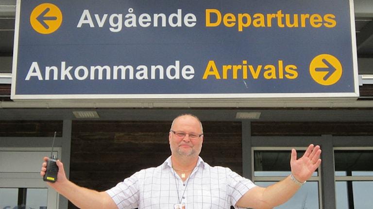Ralf Lundberg, chef Arvidsjaur flygplats. Foto: Beatrice Karlsson/Sveriges Radio