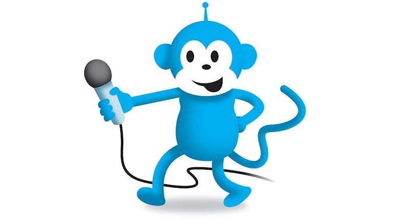 Radioapan pratar med barn i sin egen knattekanal!