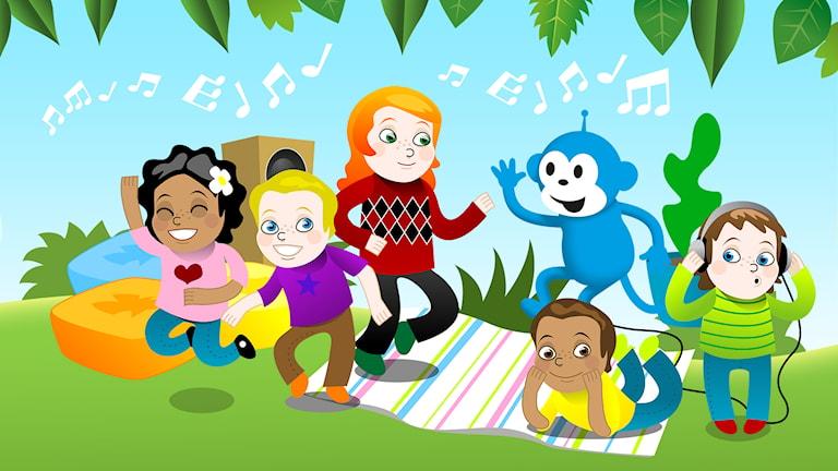 En hel webbkanal med bara barnmusik! Varje dag kl 6-20.
