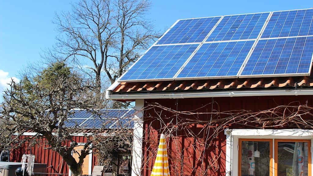 Solceller på taket är populärt