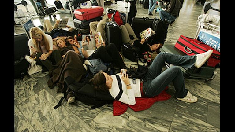 Väntan på en flygplats.