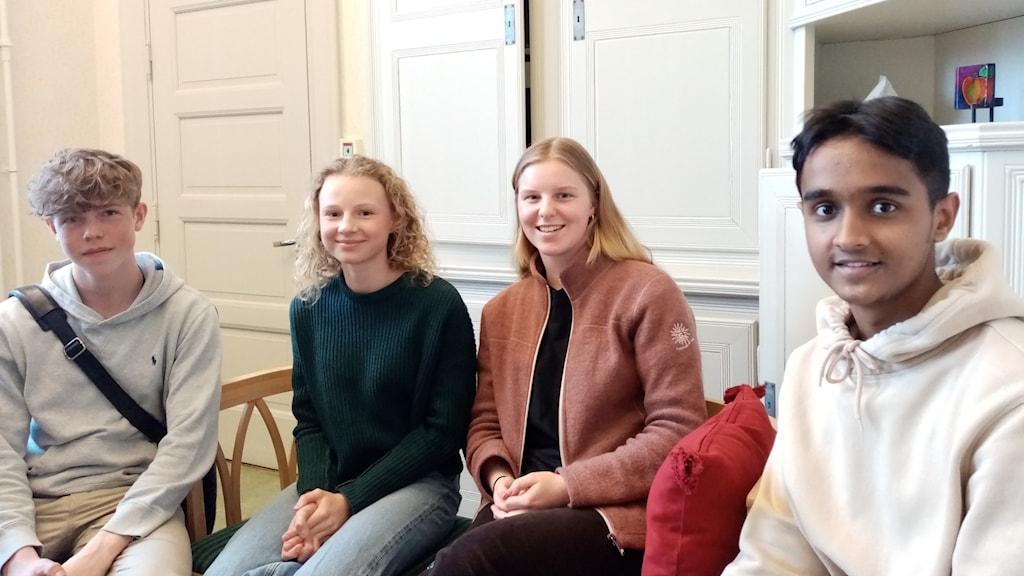 Viktor Tiberg, Tova Mattsson, Freja Linusson Hahn, Ayaan Khan