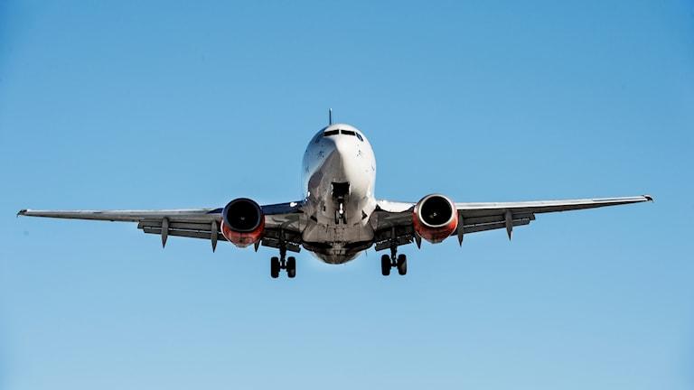 Flygplan i luften.