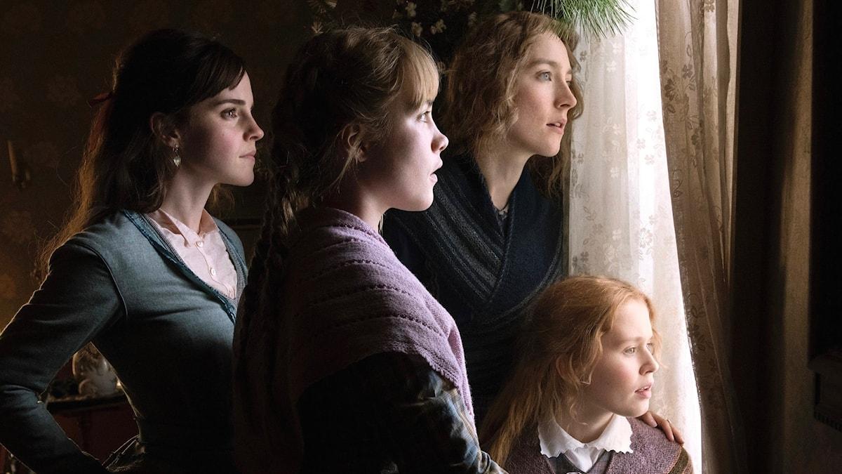 Emma Watson, Florence Pugh, Saoirse Ronan och Eliza Scanlen i Greta Gerwigs version av Little Women.