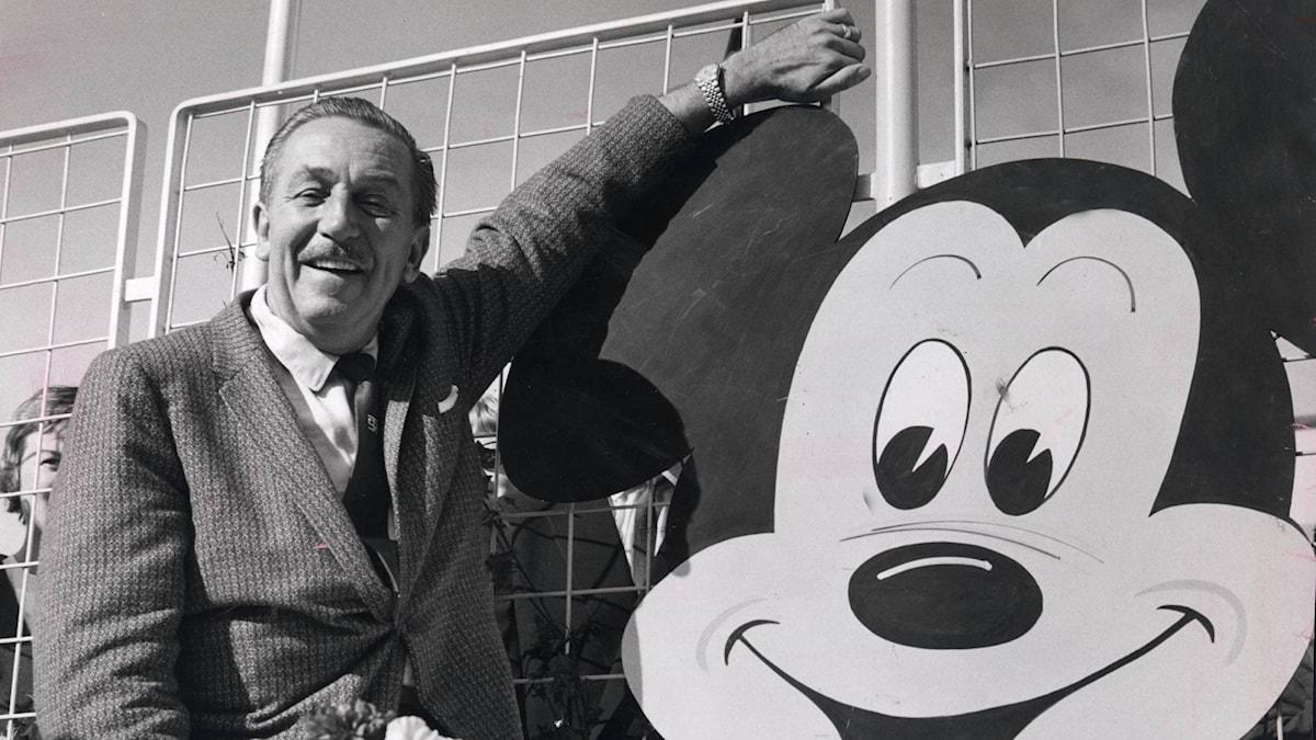 Walt Disney på besök i Stockholm 1959.