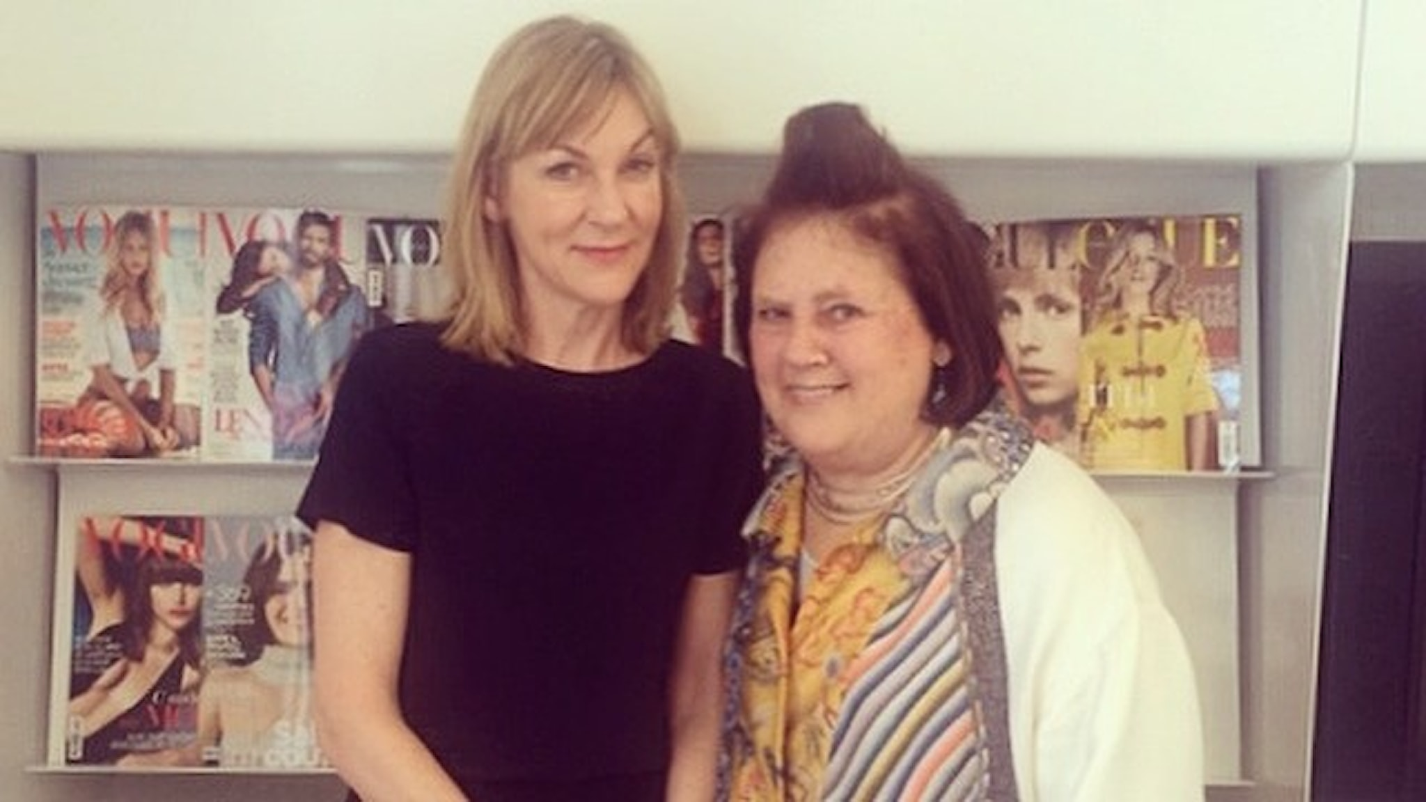 Suzy Menkes och Susanne Ljung