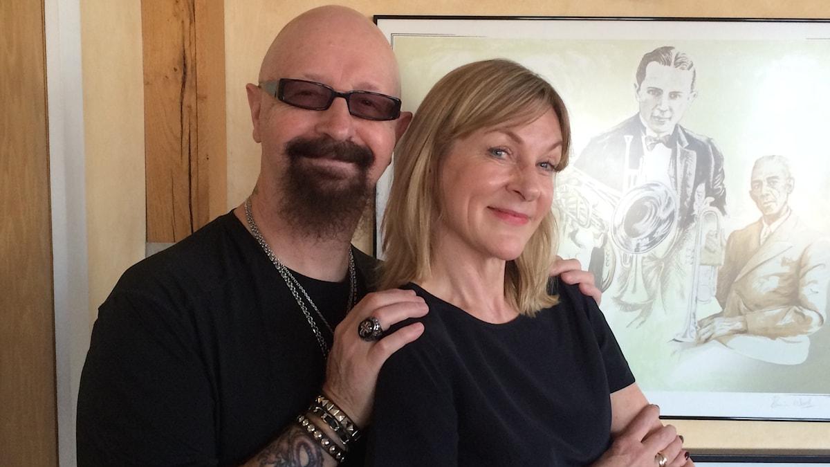 Rob Halford och Susanne Ljung