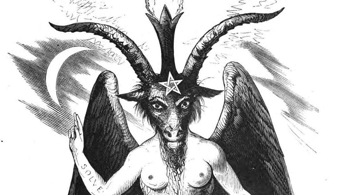 Den fiktiva gudagestalten Baphomet, här tolkad av ockultisten Eliphas Levi.