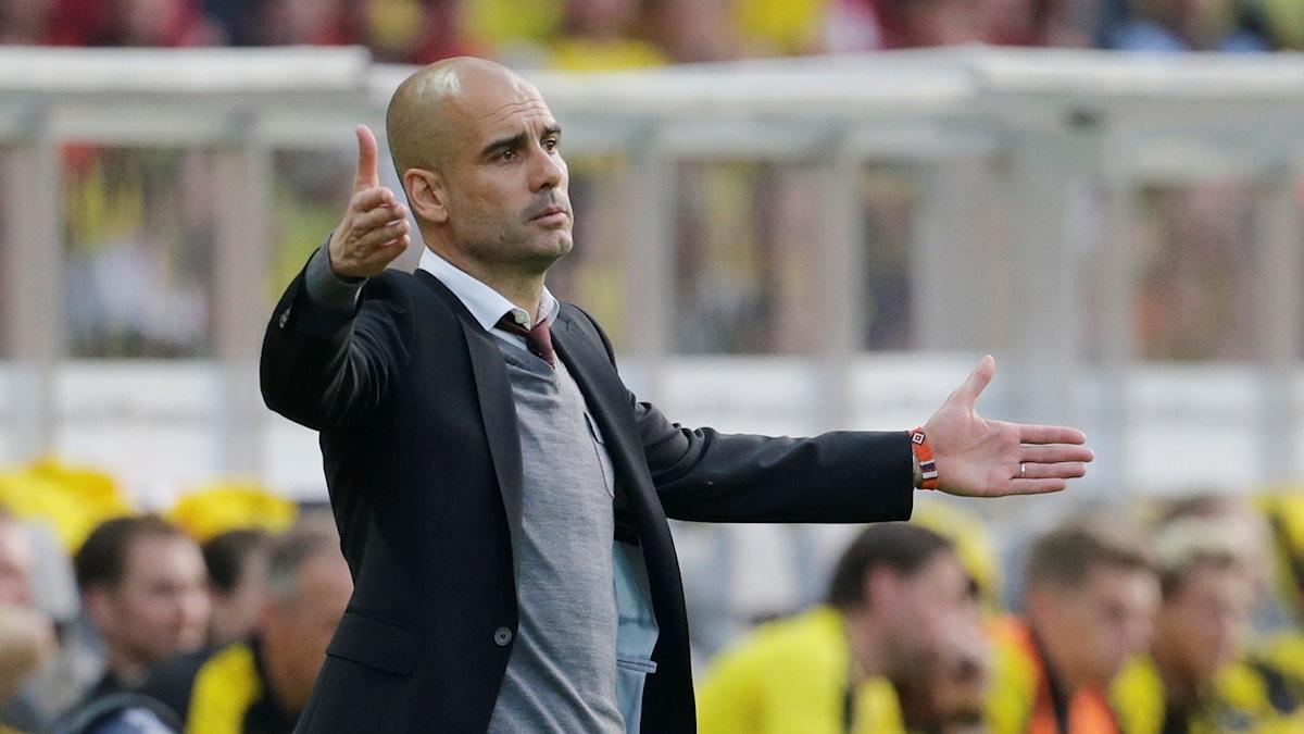 Pep Guardiola, tränare för Manchester City.