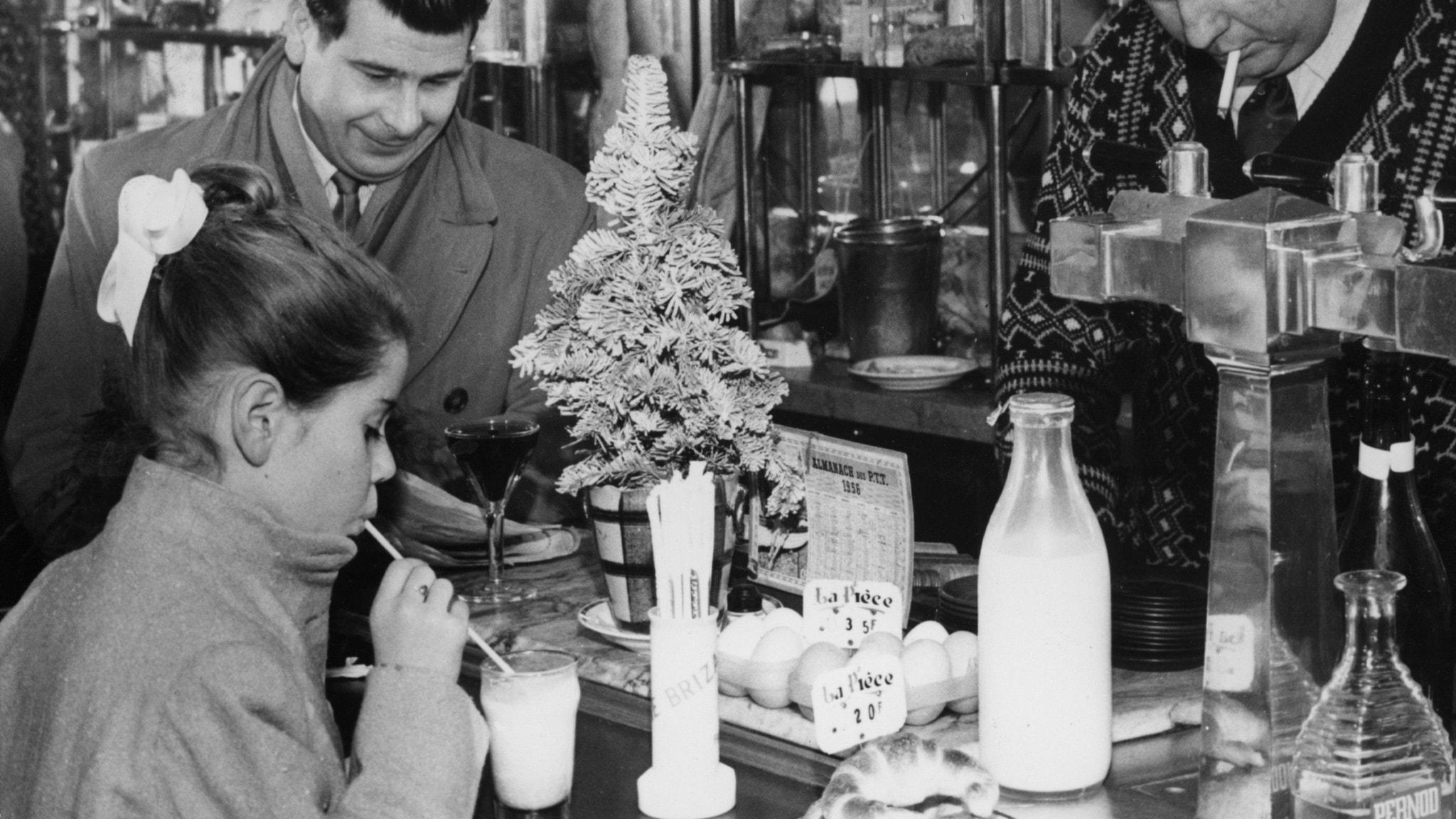 Bar i Paris, 1950-tal.