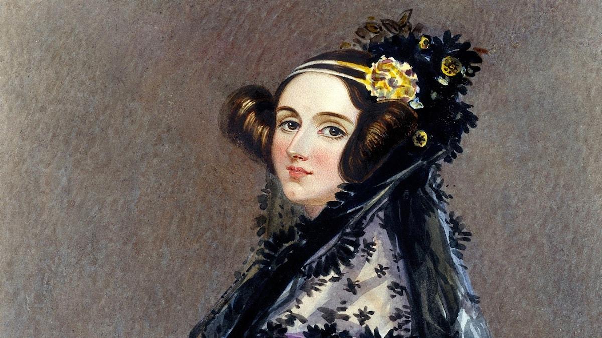 Ada Lovelace, världens första dataprogrammerare.