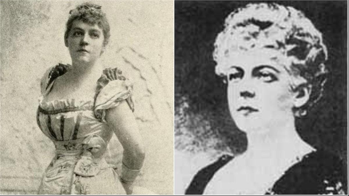 Två porträttfotografier av Harriet Hubbard Ayer.