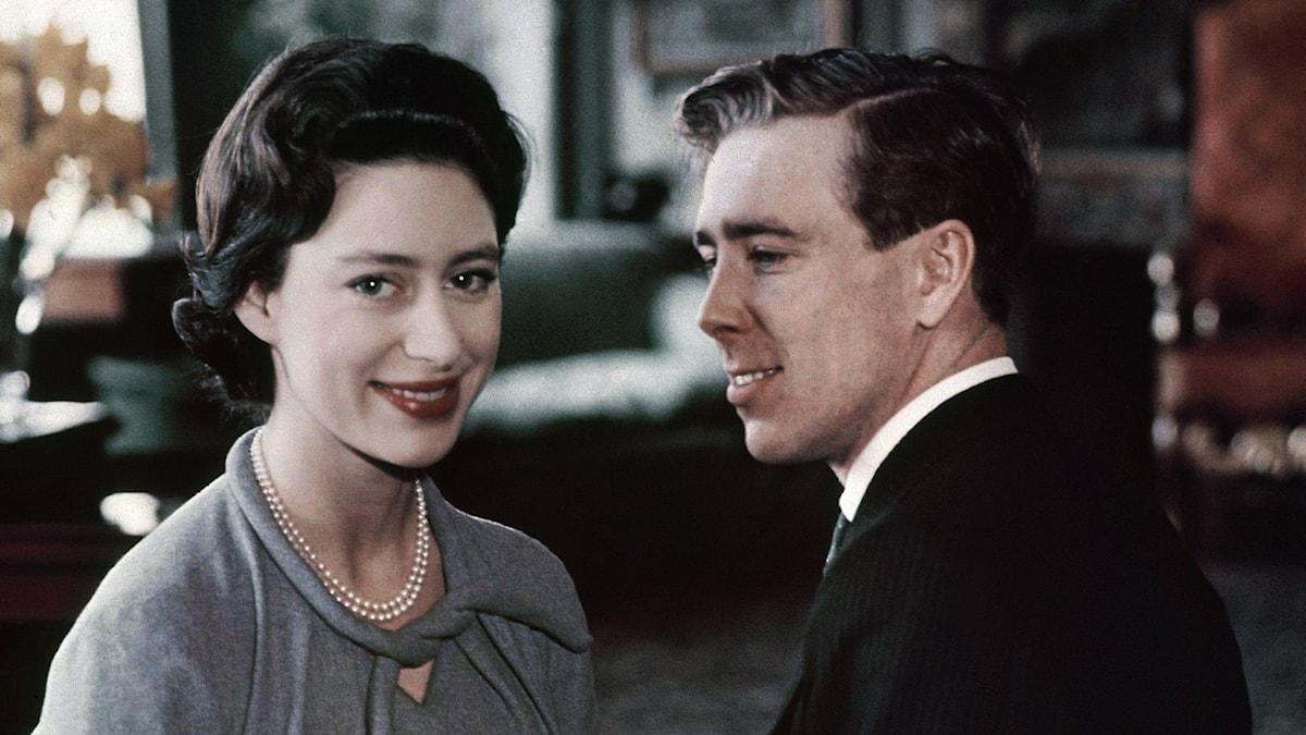 Prinsessan Margaret tillsammans med Lord Snowdon 1960.