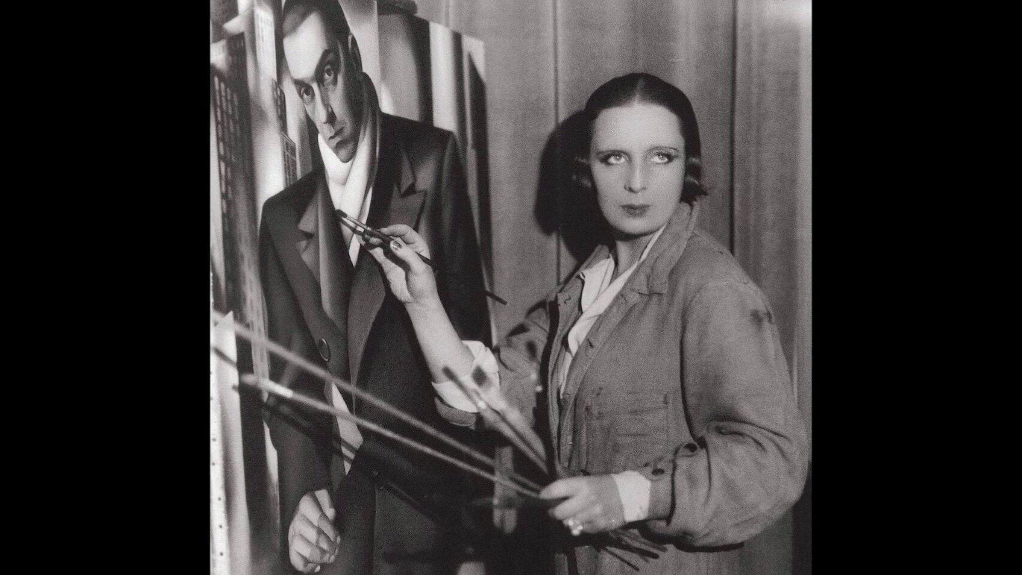 """Tamara de Lempicka syns målande tavlan """"Porträtt av en man"""" 1928."""