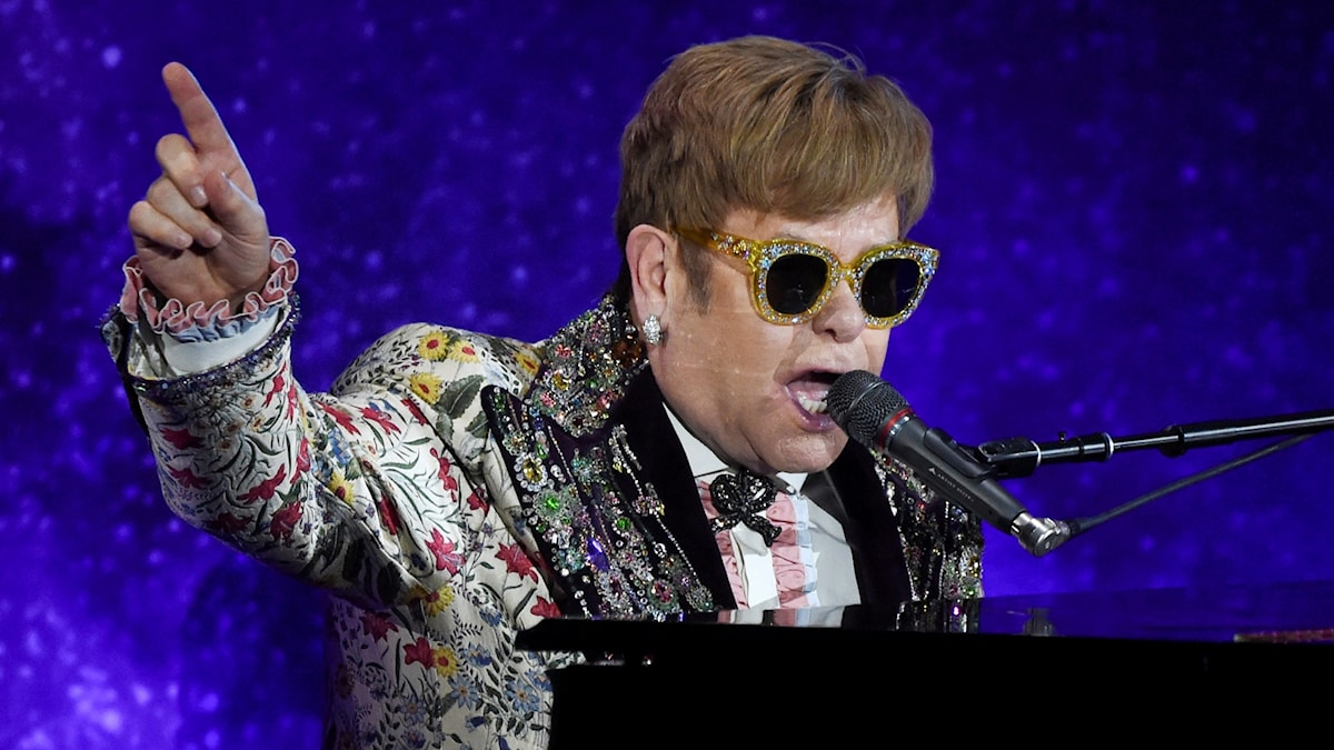 Elton John på Gotham Hall 2018.