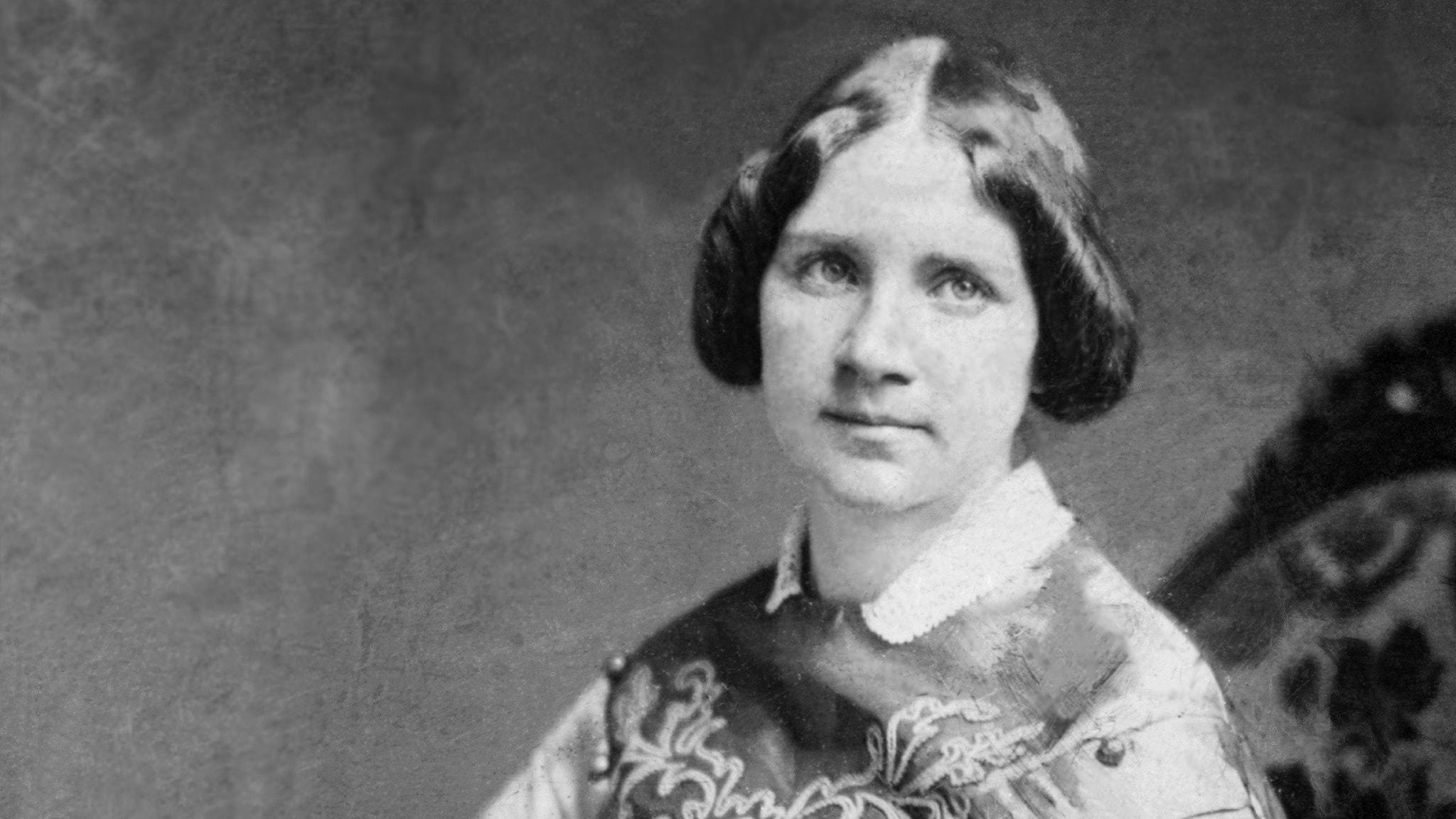 Foto på Jenny Lind taget i en porträttstudio i New York 1850.